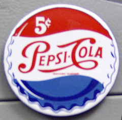 Pepsi cola cap representing the safe path as oppossed to screwing the system